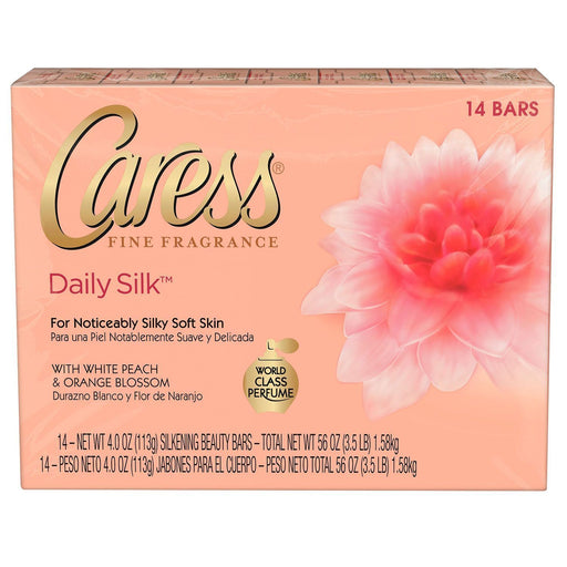 Caress Beauty Bar, Daily Silk (4 oz., 14 bars) - EZneeds