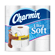 Charmin Ultra Soft Toilet Paper (2-ply 198 sheets, 9 Giant rolls) - EZneeds