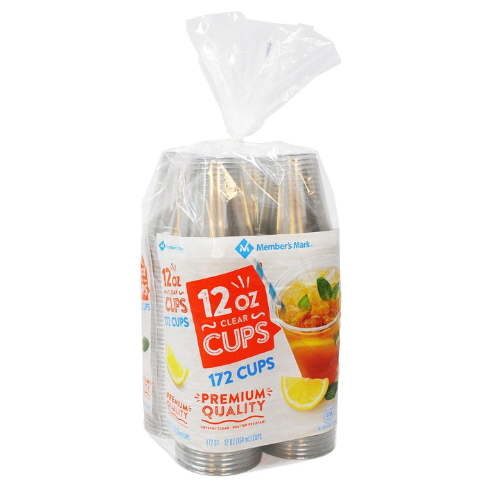 Clear Plastic Cups (12 oz., 172 ct.) - EZneeds