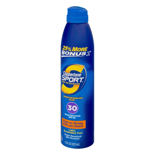Coppertone Sport Broad Spectrum Continuous Spray Sunscreen, SPF30 (7.5 fl. oz.)  - EZneeds