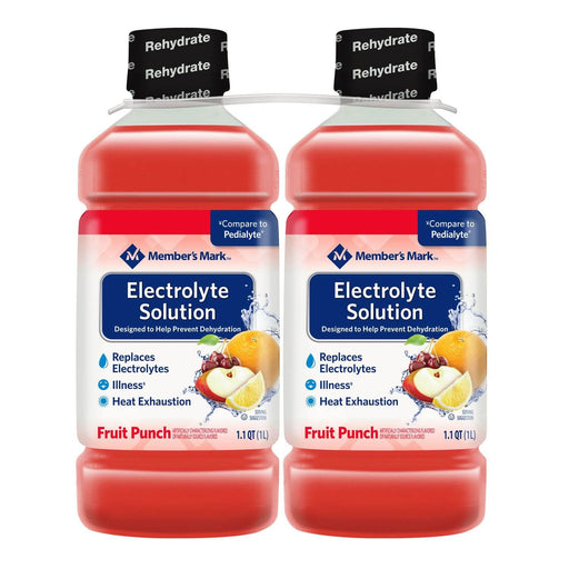 Electrolyte Solution, Fruit Punch (1.1 qt., 2 pk)