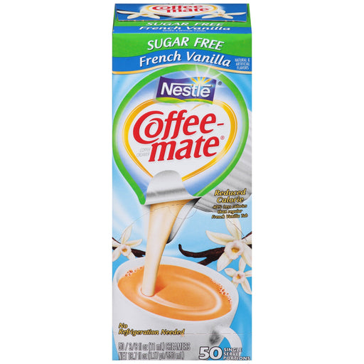 Nestle Coffee-Mate Sugar-Free French Vanilla Coffee Creamer Mini Cups (50 ct.)