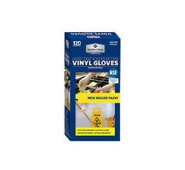 Commercial Disposable Latex Free Vinyl Gloves (120 ct.) - EZneeds