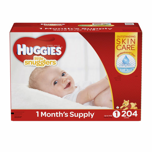 Huggies Little Snugglers Diapers (Size 1, Up to 14 lbs., 204 ct.)