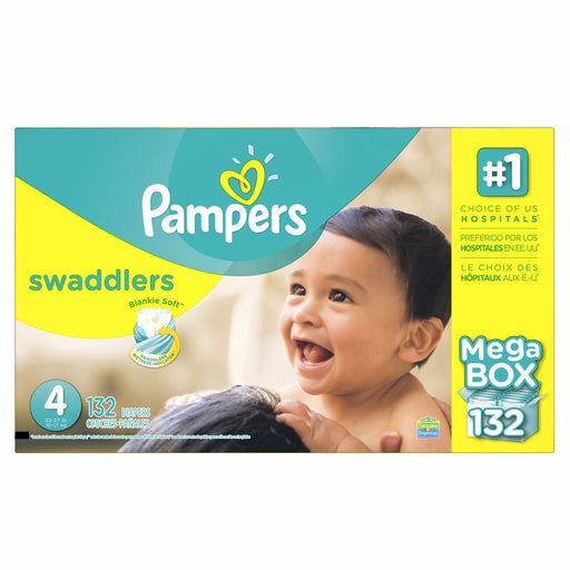 Pampers Swaddlers Diapers (Size 4, 22-37 lbs., 132 ct.)