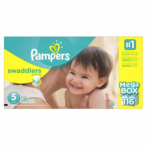 Pampers Swaddlers Diapers (Size 5, 27+ lbs., 116 ct.)