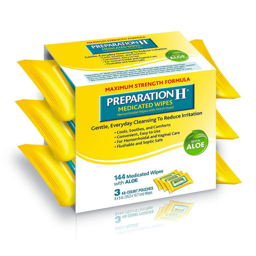 Preparation H Medicated Wipes (144 ct.)