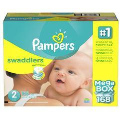 Pampers Swaddlers Diapers (Size 2, 12-18 lbs., 168 ct.)