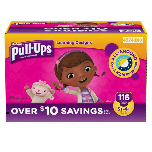 Huggies Pull-Ups Training Pants for Girls (3T/4T, 116 ct.)