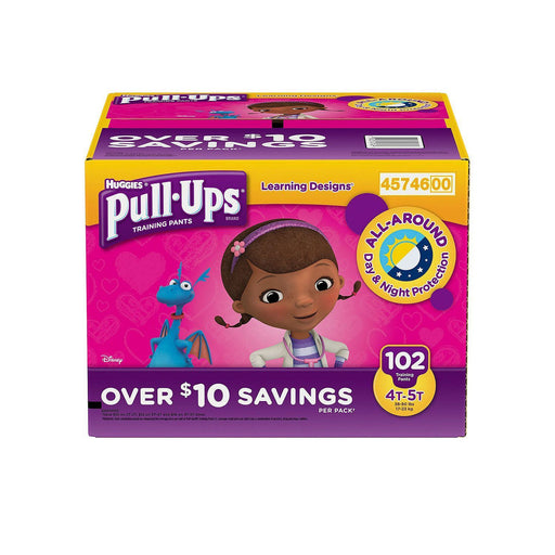 Huggies Pull-Ups Training Pants for Girls (4T/5T, 102 ct.)