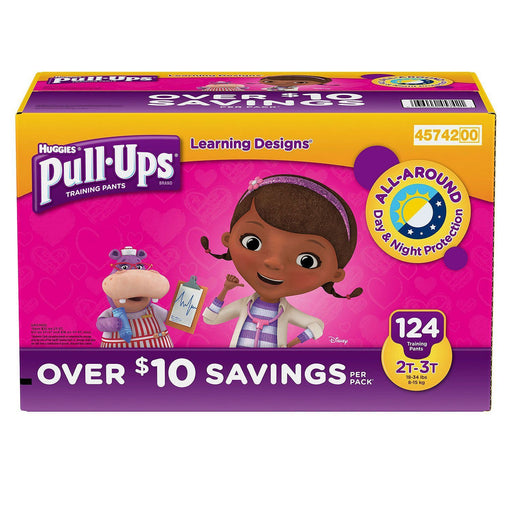 Huggies Pull-Ups Training Pants for Girls (2T/3T, 124 ct.)