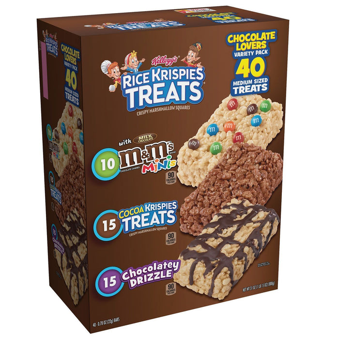 Kellogg's Rice Krispies Treats, Variety (0.78 oz. bar, 40 ct.)