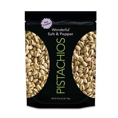 Wonderful Salt & Pepper Pistachios (40 oz.)
