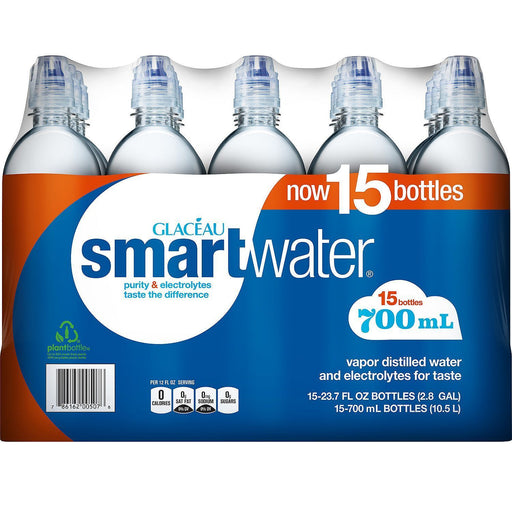 Glaceau SmartWater Water (700 mL, 15 pk.)