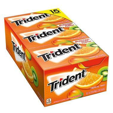 Trident Tropical Twist Sugar-Free Gum (15 pk.)