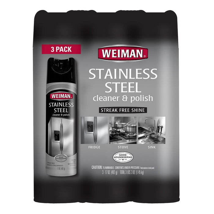 Weiman Stainless Steel Cleaner & Polish (17 oz., 3 pk.)