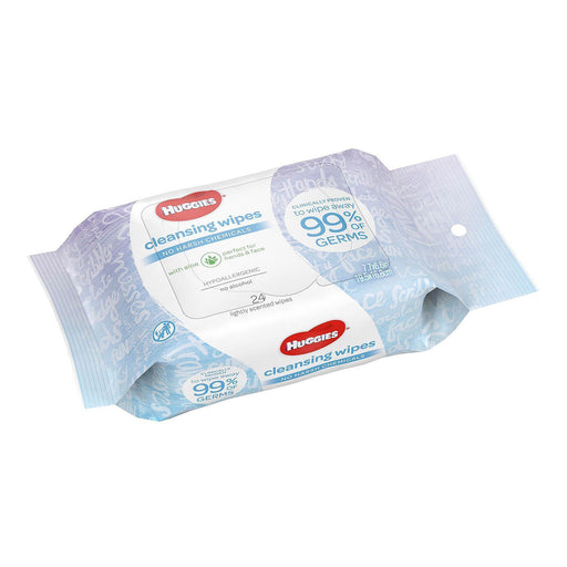 Huggies Cleansing Wipes with Aloe On-the-Go Pack (24 ct.)