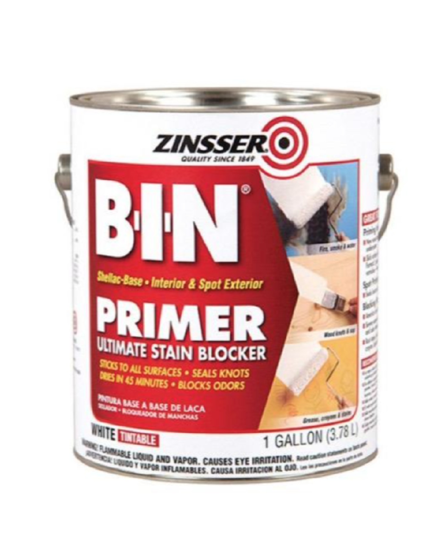 B-I-N Shellac-Based White Interior Primer and Sealer