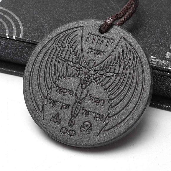 Angelic Spiritual Scalar Energy Pendants Necklace With Leather Rope