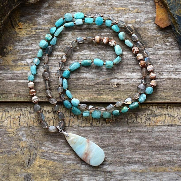 Amazonite & Labradorite Spiritual Necklace
