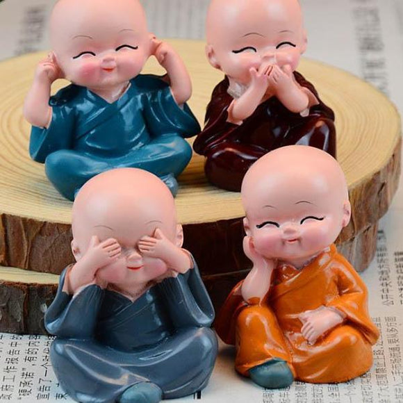 4 pieces of Buddha Monk Statues