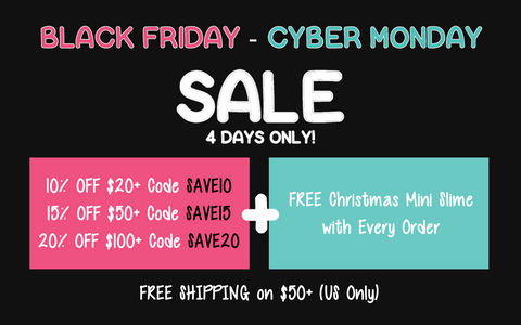 black friday cyber monday slime deals