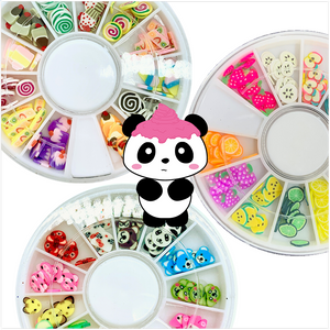 Fimo Slices in Storage Container - Slimy Panda Slime Shop