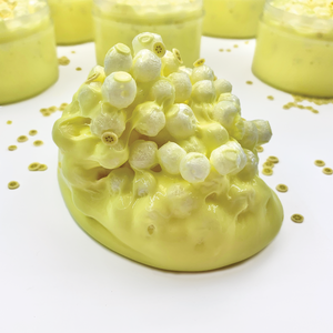 Banana Cream Crunch Butter Slime - Slimy Panda Slime Shop