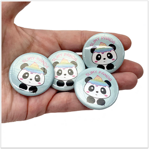 Slimy Panda Button Pin - Slimy Panda Slime Shop