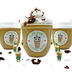 Caramel Frappuccino Butter Slime - Slimy Panda Slime Shop