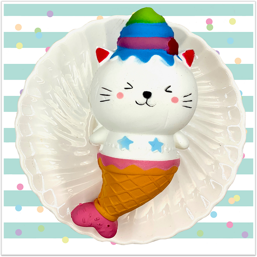 Mermaid Kitty Squishy - Slimy Panda Slime Shop