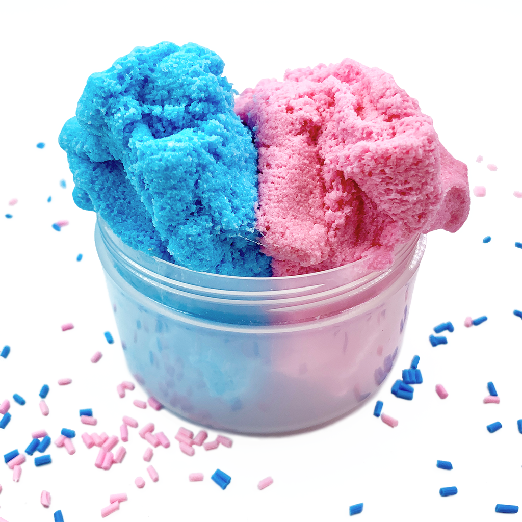 Cotton candy cloud slime pink/&blue 4 oz