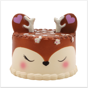 Frosted Deer Cake Jumbo Squishy - Slimy Panda Slime Shop