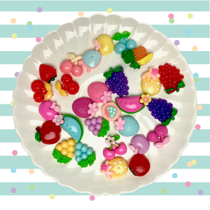 Assorted Fruit Charms Set - Slimy Panda Slime Shop
