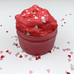 Red Velvet Cupcake Crunch Butter Slime - Slimy Panda Slime Shop