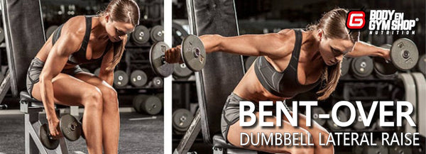 Bent over dumbbell lateral raise