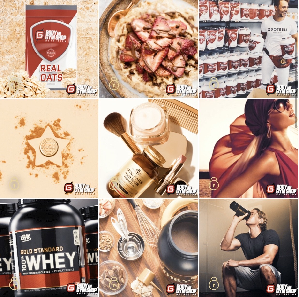 Instagram Feed Body Gym Shop