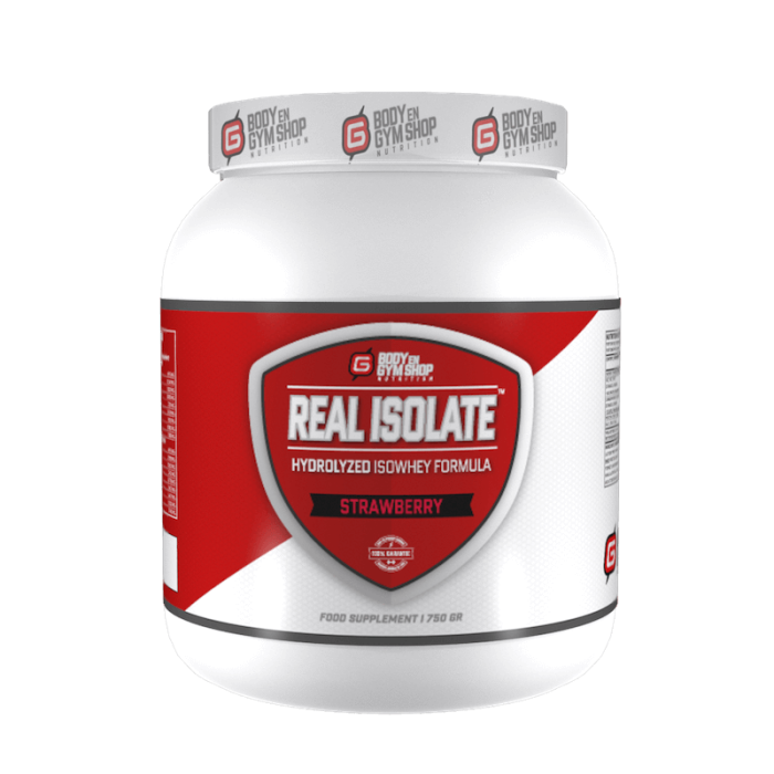 Body & Gym Shop - Real Isolate - 750 gram / Aardbei - Whey-Isolaat