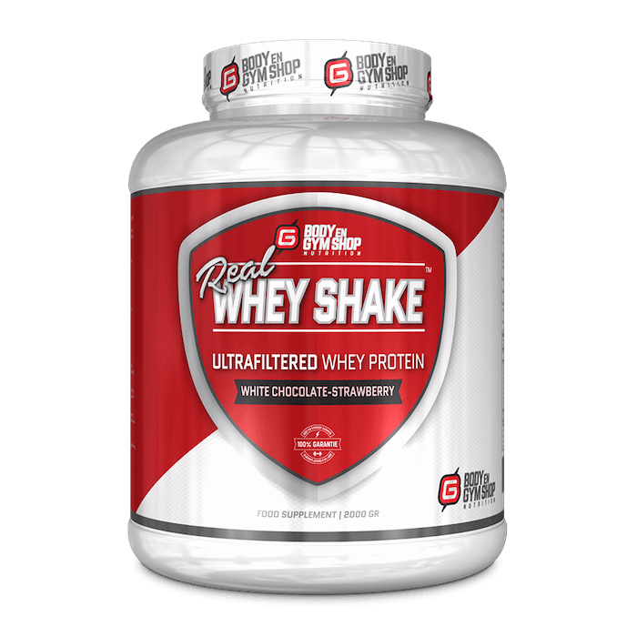 Body & Gym Shop - Real Whey Shake - 2 KG / White Chocolate Strawberry - Whey