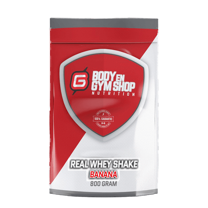 Body & Gym Shop - Real Whey Shake - 800 gram / Banaan - Whey