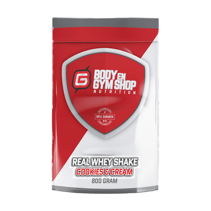 Body & Gym Shop - Real Whey Shake - 800 gram / Cookies & Cream - Whey
