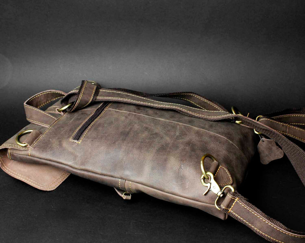 Crazy Horse Leather BackPack - WANTED STYLE