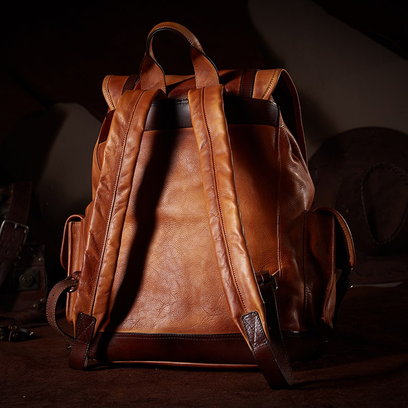Large Capacity Cow Leather Backpack