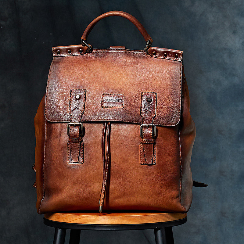 Casual Cow Leather Backpack - WANTED STYLE