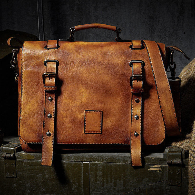 Classic Cow Leather Messenger Bag