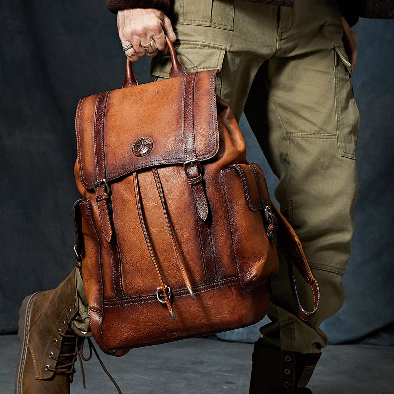 Classic Cow Leather Backpack