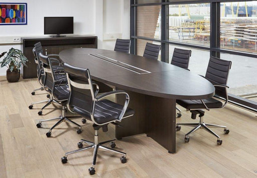 Manage-It ovale tafel 420x138cm - Tom Kantoor & Projectinrichting