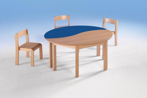 Swing-it Woody halfrond golfvormige tafel - Tom Kantoor & Projectinrichting