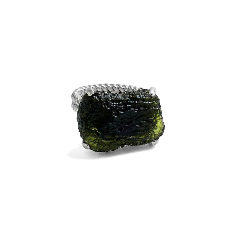Large Moldavite ring 7