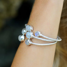 Load image into Gallery viewer, Sterling Silver Moonstone Bangle